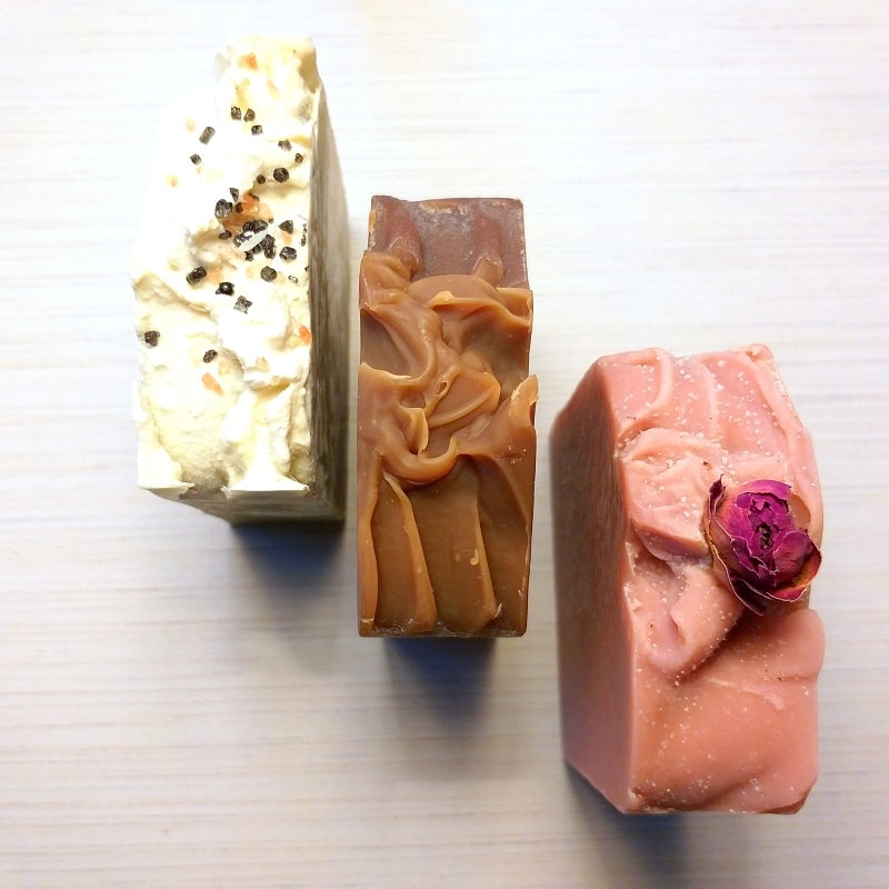 Picture of a stack of soaps